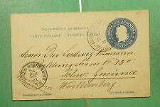 DR WHO 1901 ARGENTINA BUENOS AIRES POSTAL CARD TO GERMANY  g10403