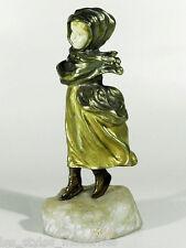Affortunato GORY Schlittschuhlaeuferin ° sign. Jugendstil Art Nouveau Bronze