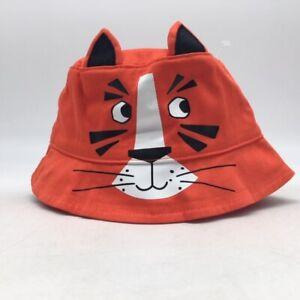 Gymboree Baby Girl's Bucket Hat, Orange Tiger, Size 12-24 Months, NWT