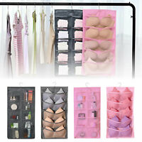Wall Hanging Double Side Pockets Storage Bag Underwear Socks Home Organizer+Hook