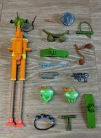 Large Lot of Vintage TMNT Teenage Mutant Ninja Turtles Weapons and Accessories