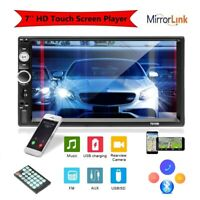 "7"" Car Stereo Radio Bluetooth USB FM AUX TF IOS/Android MP5 Player Double 2 Din"