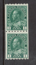 Canada #123 Never Hinged Mint Fine - Very Fine Coil Pair