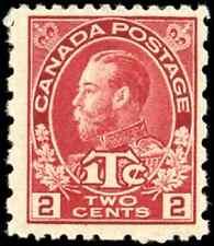 Canada #MR5 mint F-VF OG NH 1916 King George V 2c+1c carmine Admiral War Tax