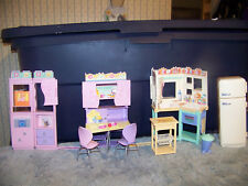 Barbie All Around Home Playset 4 Complete Rooms w/All Accessories Kit Bath BR LR