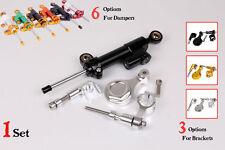 Steering Damper Set for YAMAHA YZF R6 06 07 08 09 10 11 12 14 13 w/ bracket kits