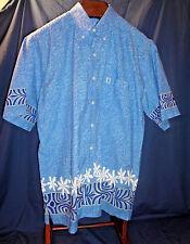 Arii Creation XL Hawiian Blue Short Sleeve Shirt