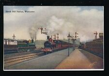 Worcestershire Worcs WORCESTER Shrub Hill Railway Station x3 trains c1900s? PPC