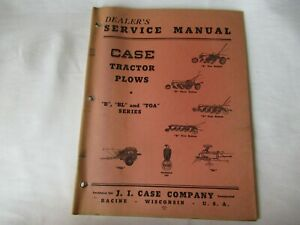 1948 J.I Case B BL TOA tractor plow service manual