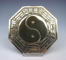 Brass Chinese FENG-SHUI BAGUA Mirror YING-YANG Symbol Chi Evil Blocker #04051705