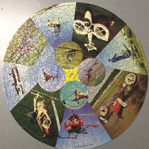 vintage retro circular jigsaw Waddington's 500 piece complete