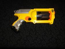 Yellow Nerf N-Strike Maverick REV-6 Revolver Dart Gun -  FREE SHIPPING 123