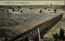 Billings MT Irrigation Flume c1910 Postcard