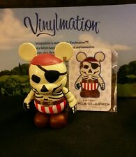 "Disney Vinylmation 3"" Park Set 5 Pirates of the Caribbean Skeleton Helmsman Card"