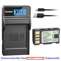 Kastar Battery LCD Charger for JVC BN-VF808 BN-VF808U & JVC GC-P100 Camcorder