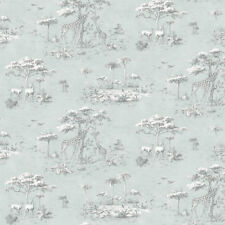 Rasch Safari animales Patrón de papel tapiz jirafa flamenco textura motivos