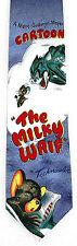 Ralph Marlin Tom & Jerry Mens Necktie Cartoon Mouse Cat Milky Waif Neck Tie New