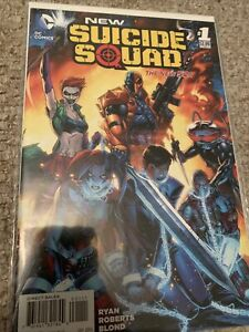 NEW SUICIDE SQUAD #1 New 52 Ryan Roberts Blond Bagged And Boarded