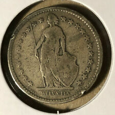 1886-B Switzerland 2 Francs Silver Coin