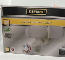Defiant 270° White Motion Activated Outdoor Integrated LED Triple Head Flood  B4