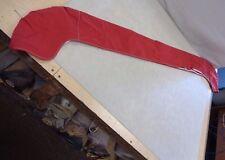 "BIMINI BOOT RED CANVAS WITH WHITE ZIPPER 77"" X 7 3/4"" MARINE BOAT"