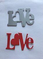 Love Sentiment Craft Die Card Making Scrapbooking. U.K. Seller