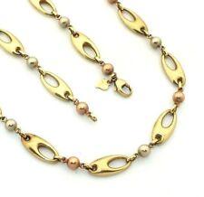 Ladies/womens 9ct 9carat 3 colour gold different design necklace