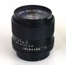 Canon FD 28mm f/2 FD Lens