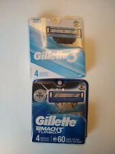 Gillette Gilette3 & Mach3 Turbo Men's Razor Blade Refills - 8 Cartridges total