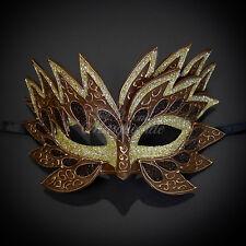 Sea Unicorn Mardi Gras Venetian Masquerade Mask for Women M7240 [Brown]