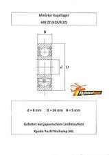 10x Kugellager 688 ZZ 8x16x5 mm 628/8 ZZ Bearing 8 x 16 x 5 mm Precision Bearing