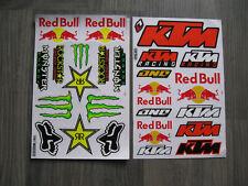 2x Aufkleber Sticker Bogen KTM Racing Tuning Biker-MC Motorcross Motorradsport