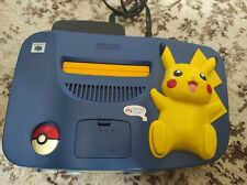 CONSOLE NINTENDO 64 pikachu edition pokemon with cables - no controller