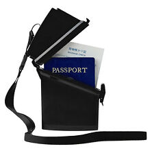 Witz Dry Box Black Passport Locker with Lanyard and Quick Release Clip
