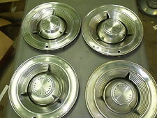 "4 HUB CAPS Pontiac 14""  4 Wheel Covers 1962 62 1963 63 1964 64 Hubcaps 14 INCH"