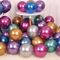 "50Pcs 12"" Latex Metallic Balloons Thick Chrome Wedding Birthday Party Supplies"