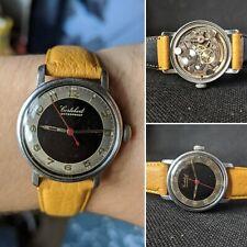 Gents Vintage Military Cortebert Rare 17J  ET 926 Wind Watch - Working