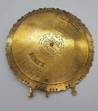 Antique Brass 90 Year Perpetual Calendar Desktop Item 1924 - 2013 Foliate Design