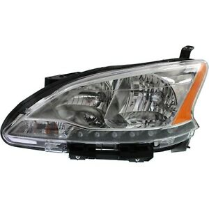 Headlight For 2013 2014 2015 Nissan Sentra Left With Socket and Wiring