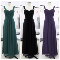 UK_Women Bridesmaid Dress Chiffon Long Evening Wedding Party Ball Gown XMAS Prom