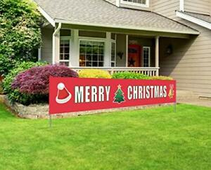 Merry Christmas Banner Large Big Huge Sign Party Indoor Outdoor Decoration New