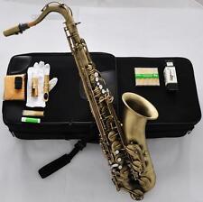 Professioanl Antique Tenor Saxophone High F# Free Metal Mouth 10X Reed Pearl Key