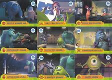 MONSTERS, INC. TOPPS PARTIAL BASE + INSERT CARD SET MISSING 9 DY