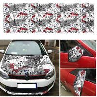 50*150cm Car Cartoon Skull Graffiti Bomb Vinyl Sticker Wrap Sheet Decals Film AP