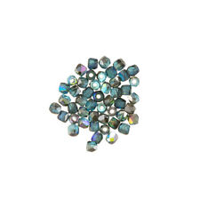 True2™ (2mm) Fire Polished Beads Aqua Graphite Rainbow Pack of 50 (L65/8)