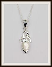 March Aquamarine Celtic Sterling Silver Birthstone Pendant Birthday Gift