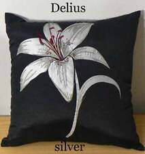 Lovely Nettex 'DELIUS' Silver Floral Cushion Cover CLEARANCE SALE