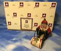 HTF Roman 1993 Bill Jauquet Santa on Sled Ornament Figurine w/ BOX #56683 AS IS