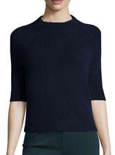 NWT Theory Jodi B 100% Cashmere Navy Blue Mock Neck Sweater Women's Size Medium