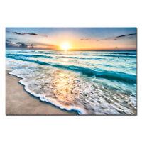 Canvas Wall Art Print Painting Picture Home Decor Sea Beach Landscape Blue Large